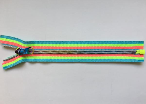 Buy Rainbow Coloured Cotton Webbing Straps Gradient Teeth Zipper With Original for Garment at wholesale prices