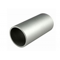 China 6063 T5 Aluminum Alloy Round Tube 0D 48mm X 4mm Thickness Silver Anodization on sale