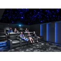 Quality Home Cinema System With Black Recliner Sofa / Projects / Speakers / Screen for sale