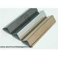 Quality 25mm X 25mm Aluminum / Stainless Steel Corner Guards For Walls Mirror Effect for sale