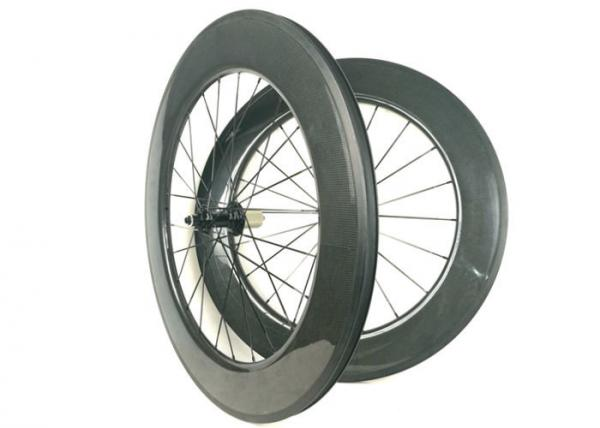 Buy 700C 88mm Carbon Wheels , Carbon Disc Road Wheels Hand - Built WIth R13 Hub at wholesale prices