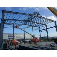Quality TEKLA Modeling Steel Frame Workshop With Colorful Cladding And Roofing Sheet for sale