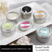 Quality Chemical Free Scented Luxury Soy Candles , Personalised Tin Candles For Bathroom for sale
