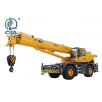 Quality CVRT50 Jib Stowed Under 55m Truck Mounted Lattice Boom Crane for sale