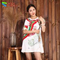 Quality Floral Pattern Sexy Short White Cotton Dress Straight Silhouette For Ladies for sale