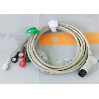 Quality TPU Material Patient Monitor Accessories One Piece ECG Cable Compatible M&B for sale