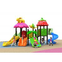 China Summer Adventure Kids Outdoor Plastic Slide Red Color For 2 - 8 Years Old on sale