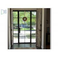 Quality Powder Coating Aluminium Casement Door With Decoration Bar Vision for sale