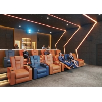 Quality Customize Electric Recliner Leather Sofa Home Cinema System With Projector / Speaker for sale