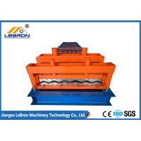 Buy cheap Orange color steel glazed tile roll forming machine PLC control automatic made from wholesalers