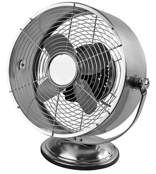 Small Oscillating Desk Fan : Inch metal blade oscillating desk fan brushed nickel