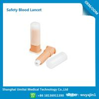 Quality Easy Handling Disposable Blood Lancet For Blood Sugar Less Pressure Powder for sale