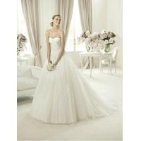 China Modern Strapless Ball Gown Sweetheart Lace Wedding Dress for Summer , Spring on sale