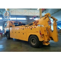 Quality SINOTRUK Road Wrecker Tow Truck / 6x4 Tow Truck 50T Strong Operation System for sale