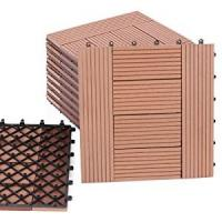 Quality DIY WPC  DECKING TILE 300*300mm can using  in garden decoration or courtyard for sale