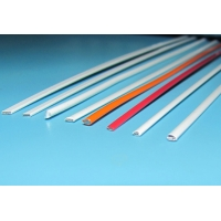 Quality Flat Oval 0.04mm Red Polymer Coated Wire Corrosion Resistance for sale