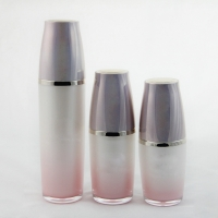 Quality Wholesale 30ml 50ml 100ml Slik-screen Printing Clear serum Airless Bottle with Pump Sprayer for sale
