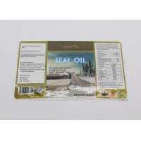 Quality Seal Oil Barcode Food Label Stickers , Spot UV Surface Handle Food Product Labels for sale