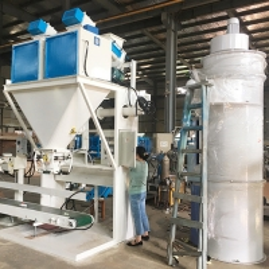 Quality Screw Feeding 25kg Cassava Flour Animal Feed Bagging Machine With PLC Control for sale
