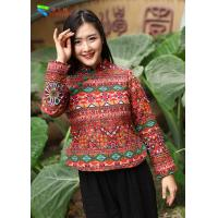 Quality Cotton Padded Chinese Embroidered Blouses for sale