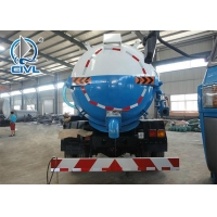 Quality Sinotruk 4x2 8000 Liters Yellow Color Sewage Suction Truck Italy Brand Vacuum Pump for sale