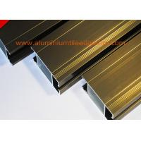 Quality Anti Corrosion Aluminium Door Profiles Extrusions Electrophoresis Champagne Color for sale
