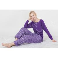 Buy cheap Fashionable Violet Womens Pyjama Sets Long Sleeve Top Australian Design from wholesalers