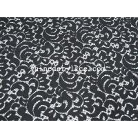 Buy cheap Black Flower Cotton Nylon Lace Fabric Eco Friendly AZO Free Dyeing SYD-0036Z from wholesalers