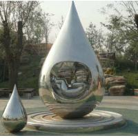 Buy cheap Metal Garden Art Sculpture Water Droplets With Baby Idea Design In Polished from wholesalers
