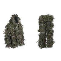 Quality Hybrid Woodland Camouflage Ghillie Suit Lightweight Military Style Ghillie Suit for sale