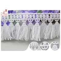 Buy cheap French Venice Guipure Tassels Fringe Polyester Lace Trim For Clothing Decorative from wholesalers
