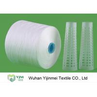 Quality 60S 60s /2 Spun Polyester Yarn Sewing Thread Yarn Raw White With Dyeing Tube for sale