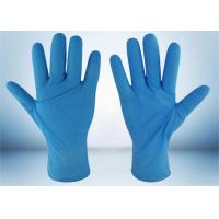 China Powder Free Nitrile Examination Gloves 5 MIL Thickness Good Puncture Resistance on sale