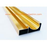 Quality Electrophoretic Coated Gold Aluminium Cabinet Door Profiles 0.4mm-20mm Thickness for sale