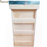 Quality Bee Hive Equipment European style wooden beehive beekeeping Apiculture wooden beehive for sale