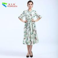 Quality Largos Casual Long Cotton Summer Dresses None Decoration For Beach for sale