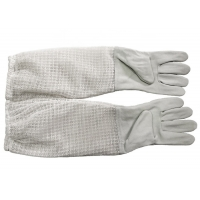 Quality White Sheepskin Beekeeping Gloves of Three Layer Long Breathable Cuff for sale