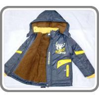 New Arrival Fancy Boy's Thick Wram Padded Hoodies Jackets with Shihai EXPO Logo Kid's Wear BC0031