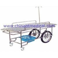 Stainless steel wheeled stretcher with two big and small whee