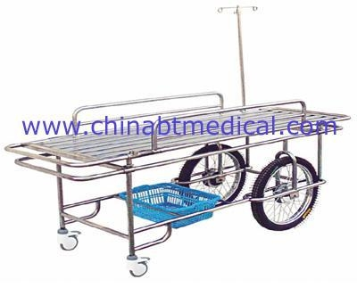 Buy Stainless steel wheeled stretcher with two big and small whee at wholesale prices
