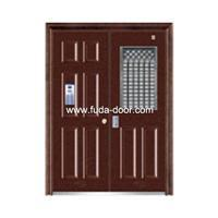 Quality Steel security building door(JNH-1127) for sale