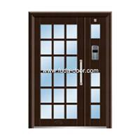 Quality steel security Building door(JNH-1122) for sale