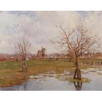 Quality Impressionist(3830) Landscape_with_Flooded_Fields for sale