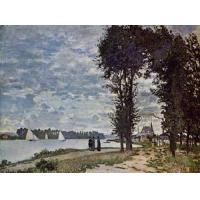 Quality Impressionist(3830) The_Banks_of_the_Seine_at_Argenteuil for sale