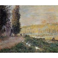 Quality Impressionist(3830) The_Banks_of_the_Seine,_Lavacour for sale