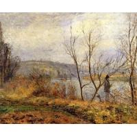 Quality Impressionist(3830) The_Banks_of_the_Oise,_Pontoise for sale