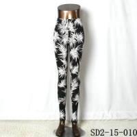 Knit Black And White Leggings New Style Popular Knit Black And White Flower Slim Leggings