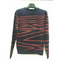 Quality Hot sale design black and red knitted pattern long sleeve sweater for men for sale