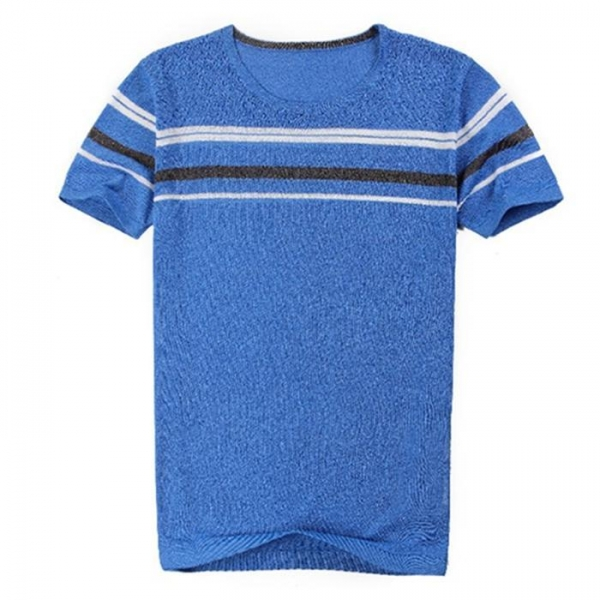 Buy 2017 Latest summer design 100% cotton knitted t shirt for men at wholesale prices