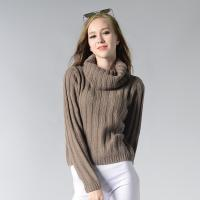 Quality 2018 New knitwear collection for ladies 7GG woolen turtleneck winter sweater for sale